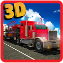 Car Transporter Trailer 3d Sim icon