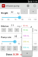 Screenshot of Infusion pump