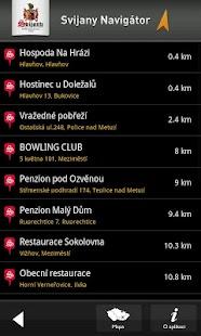 Svijany navigátor - screenshot thumbnail