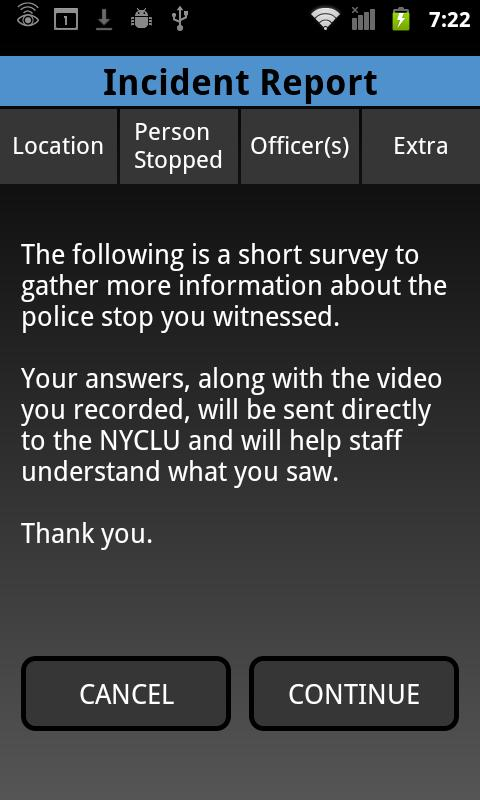 Stop and Frisk Watch - screenshot