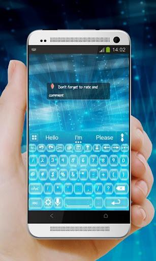 玩免費個人化APP|下載蓝色 AiType Theme app不用錢|硬是要APP