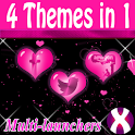 Pink Hearts Complete 4 Themes icon