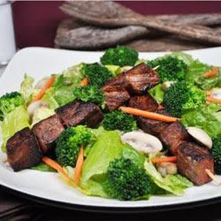 Skewered Steak and Vegetable Salad.