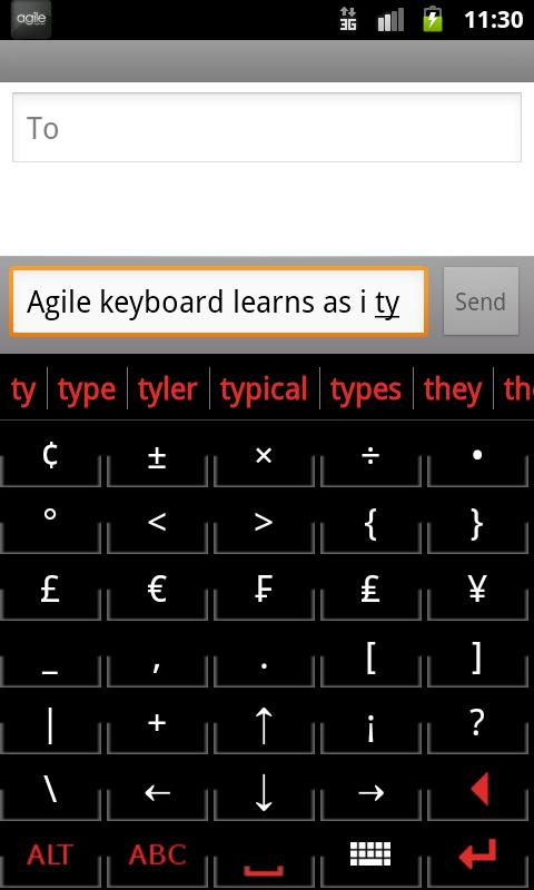 Agile Keyboard- screenshot