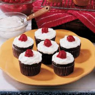 Chocolate Cherry Cupcakes.