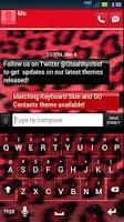 Screenshot of GO SMS THEME - Red Cheetah