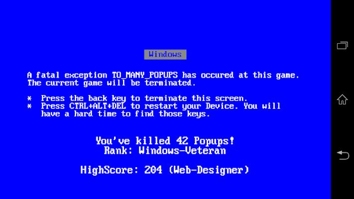 Crazy Popups - screenshot