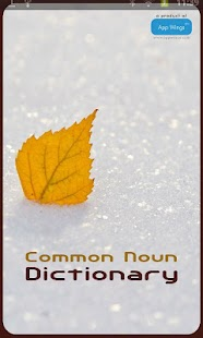 The Common Noun Dictionary - screenshot thumbnail