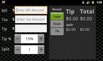 Screenshot of Tip Droid Tip Calculator