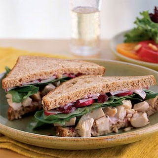 Roast Chicken and Cranberry Sandwiches.