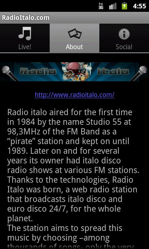 radio italo - screenshot