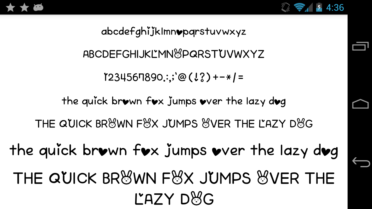 Fonts for flipfont 50 written android apps on google play for Fonts for google docs android