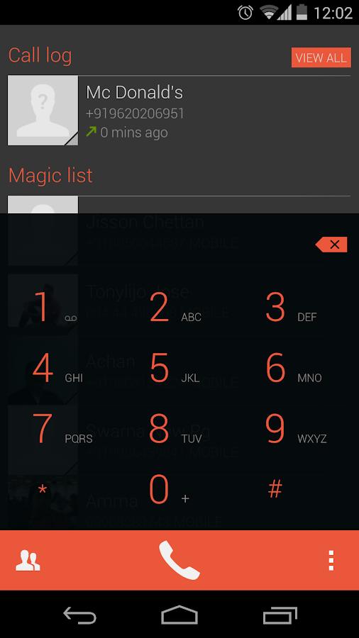 Dialapp : Kitkat Dialer - screenshot