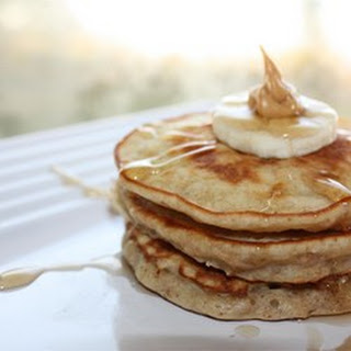 Banana and Peanut Butter Pancakes.