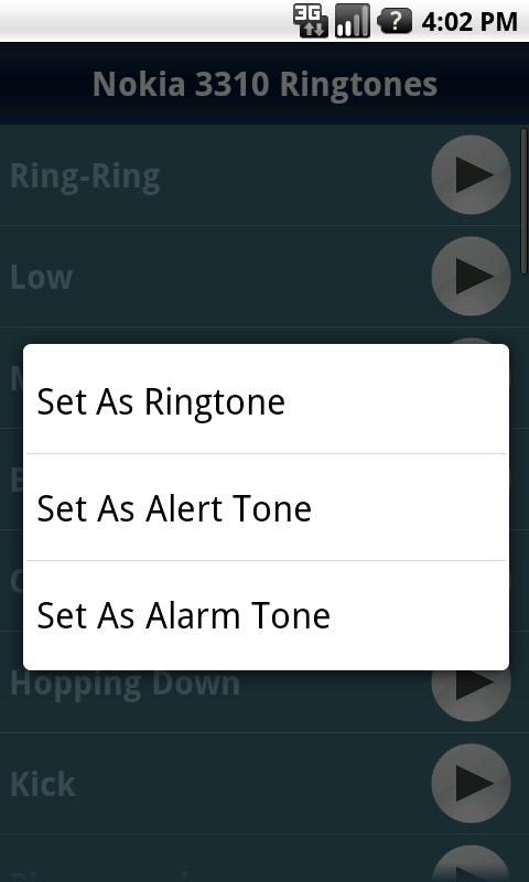 Nokia 3310 Ringtones - screenshot