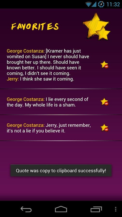 Seinfeld Memorable Quotes- screenshot