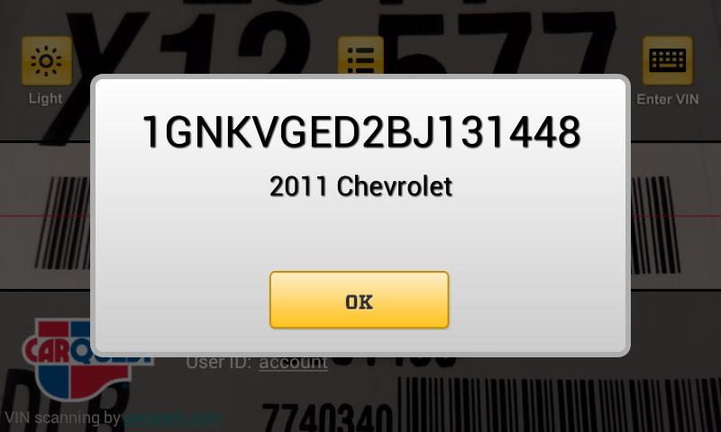 CARQUEST VIN Decoder - screenshot