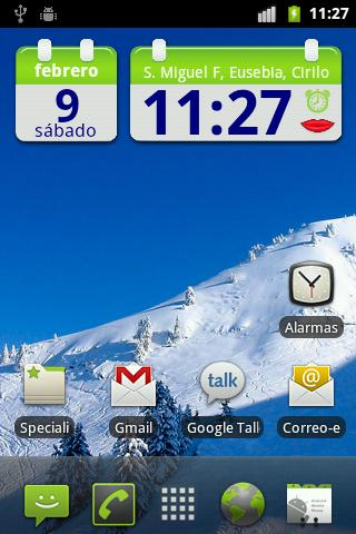 SpeakTime glass widget free