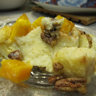 Gingered Butternut Bread Pudding with Coconut and Maple.