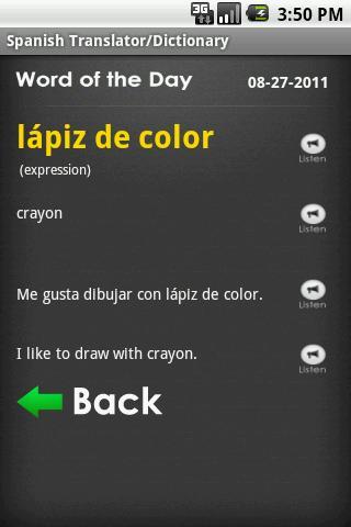 Talking Translator Pro- screenshot