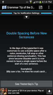 Grammar Tip of the Day- screenshot thumbnail