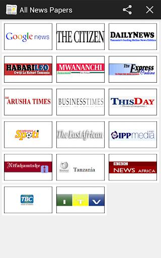 All Newspaper Tanzania