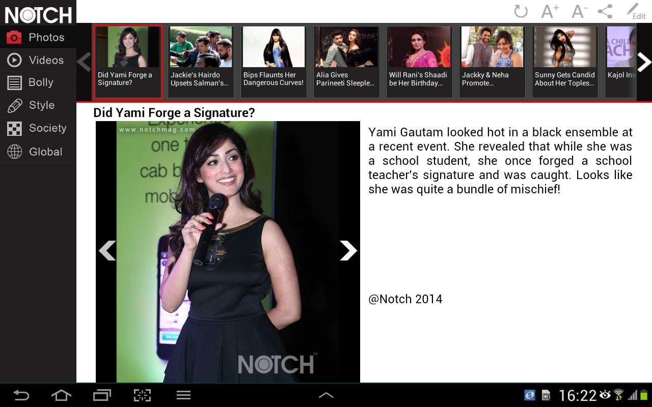 NOTCH BOLLY TAB - screenshot