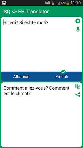 Albanian French Translator