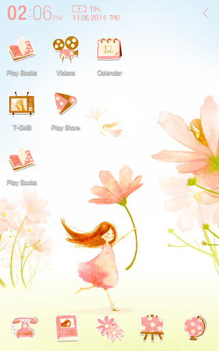 Flower fairy Atom Theme
