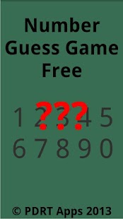 Number Guess Free - screenshot thumbnail