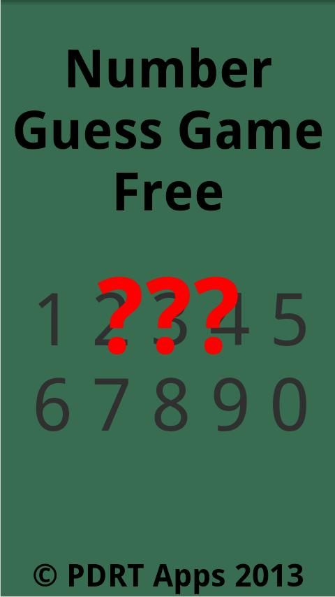 Number Guess Free - screenshot