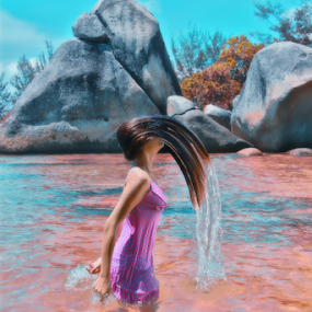 Ryan in action by Ismed  Hasibuan  - People Body Parts ( part of body, is, color, woman, name, stone, her, beach, ryan )