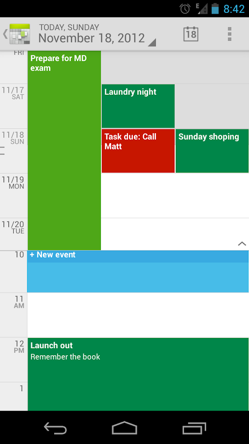 Calendar++: Calendar & Tasks - screenshot