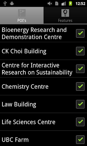 UBC Sustainability App