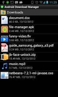 Android Download Manager - screenshot thumbnail