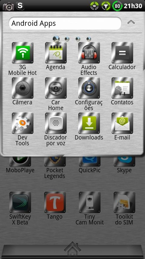 Theme Metal GO Launcher EX - screenshot