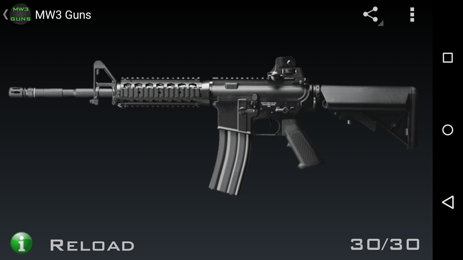 Guns for MW3: captura de tela