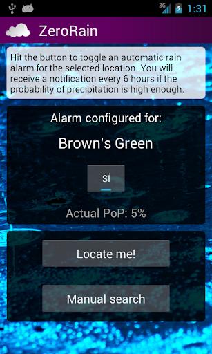 ZeroRain UK Rain Alarm