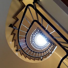 Paul's Stairway by Timothy Carney - Buildings & Architecture Other Interior ( paris, france, spiral staircase, stairway, interior )