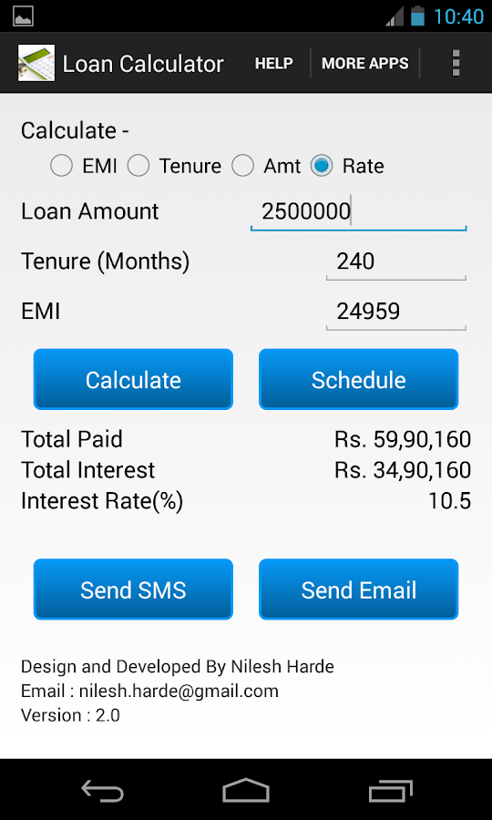 Loan EMI Calculator - Android Apps on Google Play