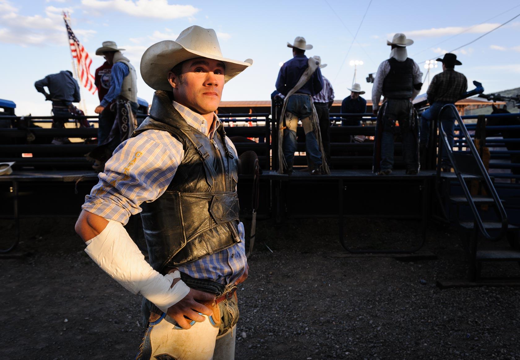 Bronc Rider, Cody Stampede, Wyoming