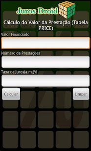 Calculadora Juros Droid- screenshot thumbnail