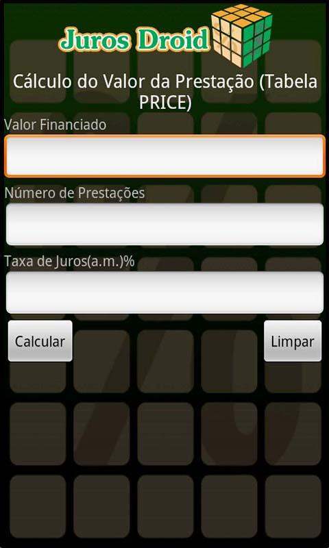 Calculadora Juros Droid- screenshot