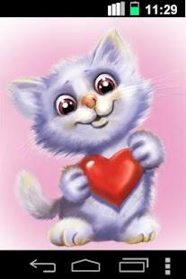 Funny Cute Cat Live Wallpaper- screenshot thumbnail