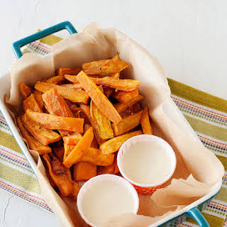Sweet Potato Fries with Toasted Marshmallow Dip.