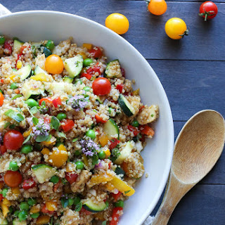 Market Quinoa Salad with Fresh Mozzarella.
