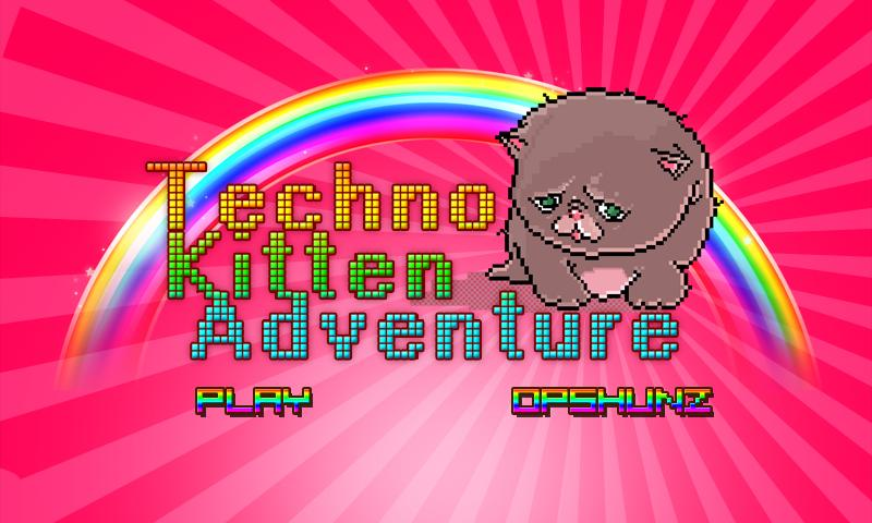 Techno Kitten Adventure- screenshot