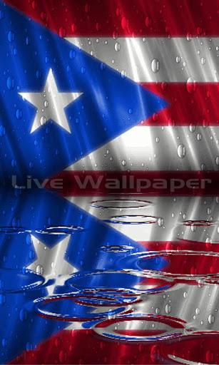 Puerto Rico Flag Raindrop