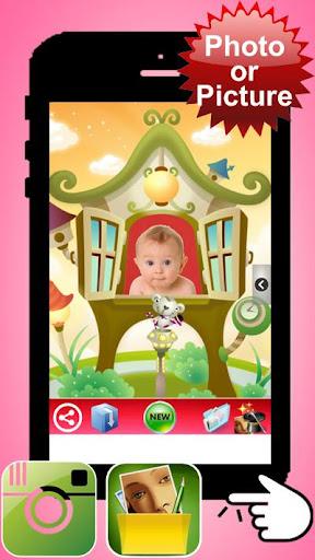 照片孩子和婴儿帧