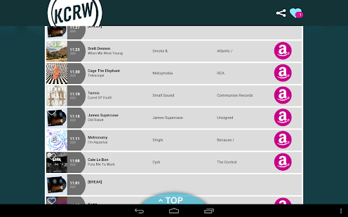 KCRW Playlists - screenshot thumbnail